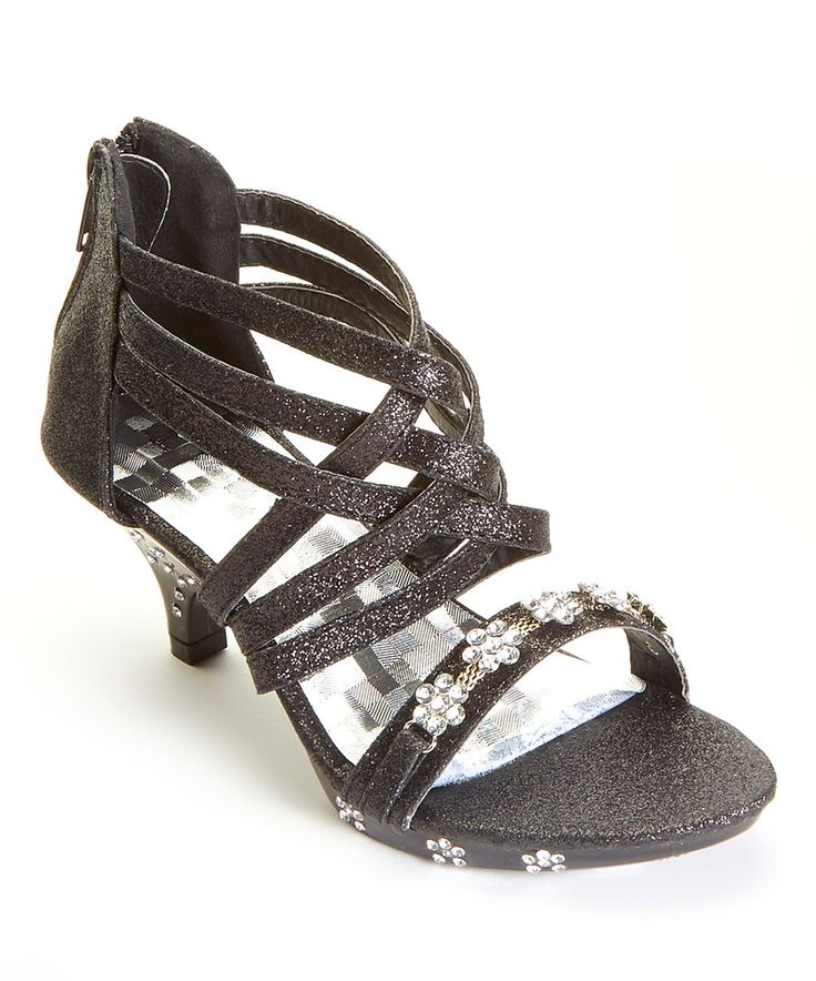 Look at this Ruby Shoes Black Shimmer Weave Sandal on #zulily today!