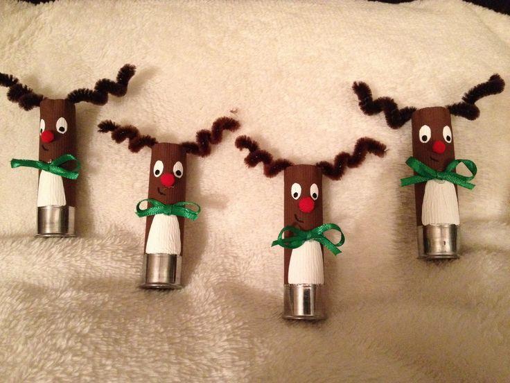 Reindeer shotgun shell ornaments                                                                                                                                                                                 More