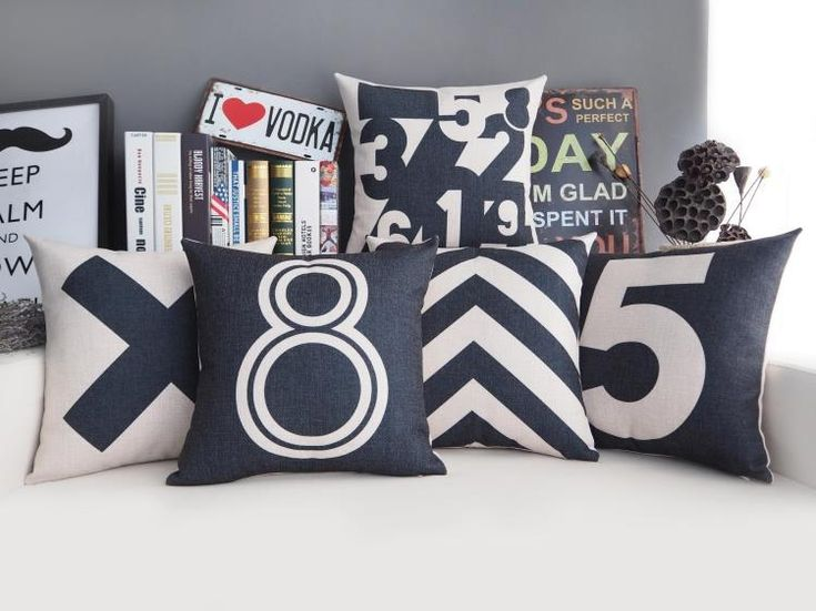 Cheap cushion cover, Buy Quality cushion cover pattern directly from China pattern cushion covers Suppliers: Free shipping Christmas simple arabic numbers 1 to 9 number 5 8 letter X arrows pattern Cushion Cover sofa throw pillow Case