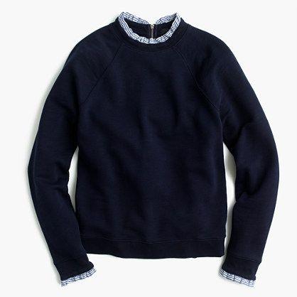 J.Crew+-+Sweatshirt+with+ruffle+trim