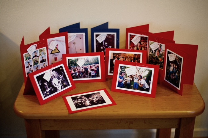 Personalised christmas cards for the clients I had in 2012. On every christmas card I put one of the photos I made for the client.