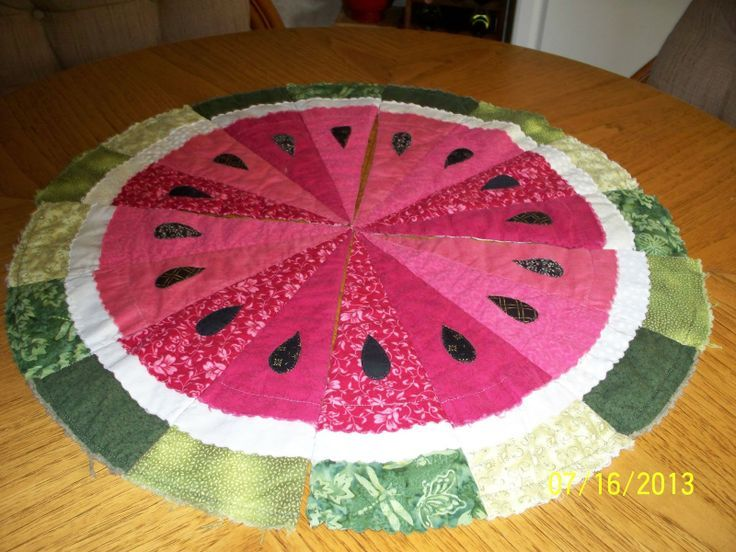 261 best quilt fruit images on Pinterest | Fruit, Picasa and Patchwork : watermelon quilt pattern - Adamdwight.com