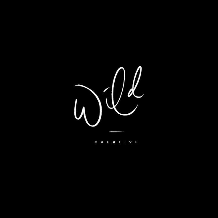 Hand Lettered Variations | Wild Creative | Mel Volkman | Hand Lettering | Brush Lettering | Logo Variations | Custom Logo Design | Branding | Black and White | Modern Lettering Design