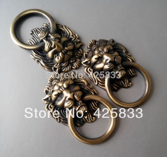 Free Shipping 10pcs  Antique Bronze Cartoon Lion Head Cabinet Handles Knobs Drawer Pulls Closet Drawer Door Hardware-in Handles & Knobs from Home Improvement on Aliexpress.com | Alibaba Group