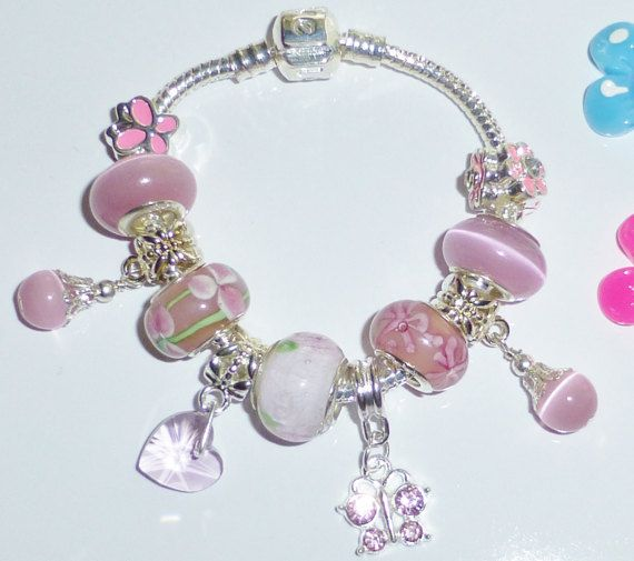 charm bracelet with all charms beads pendants for by JewlsGifts