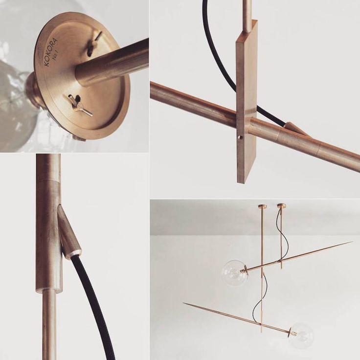 Hasta Lamp by Jan Garncarek/ Brass Design