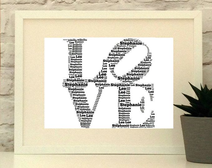 LOVE Personalised Art, Personalised print ideal for Valentines day or a wedding gift.  Made to order. Ships world wide.  #pepperdoodles #weddinggift #valentinesday