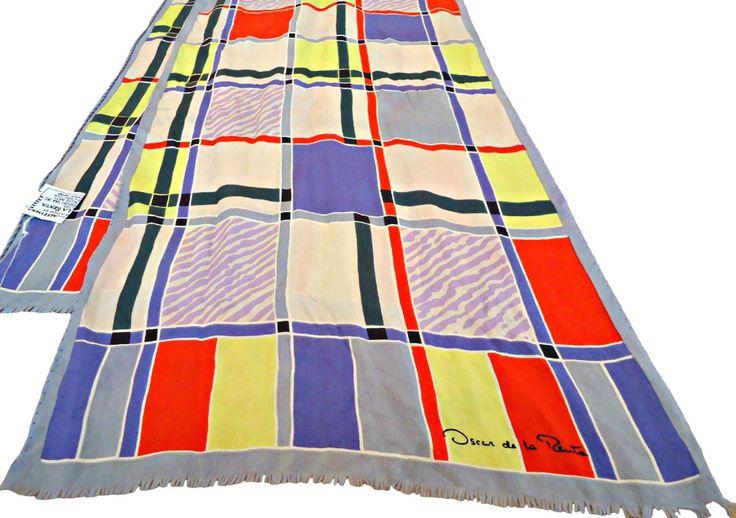 Vintage Oscar de la Renta Silk Scarf Designer Scarves   D27 by treasurecoveally on Etsy