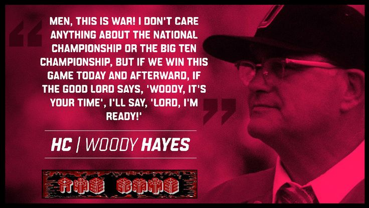 WOODY HAYES ON THE GAME.