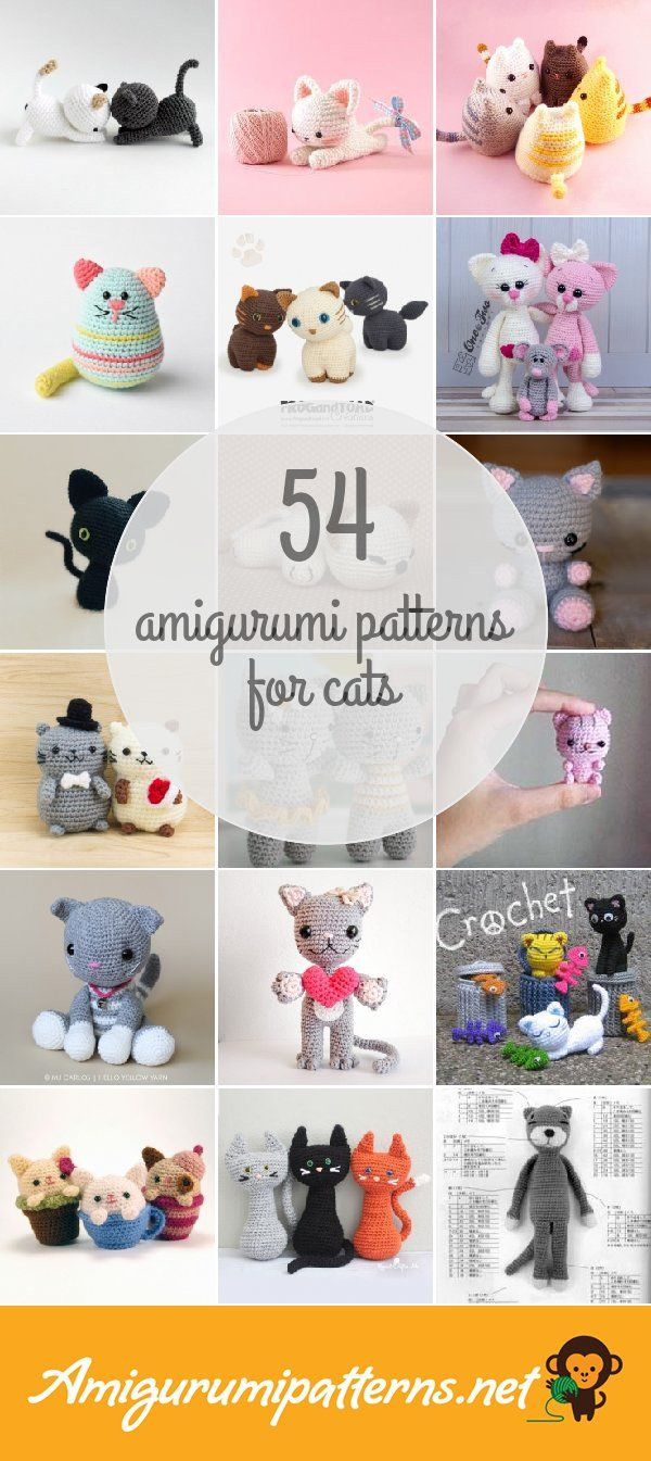 54 Cats Amigurumi Patterns