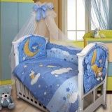 Бампер в кроватку Ёжик Blue