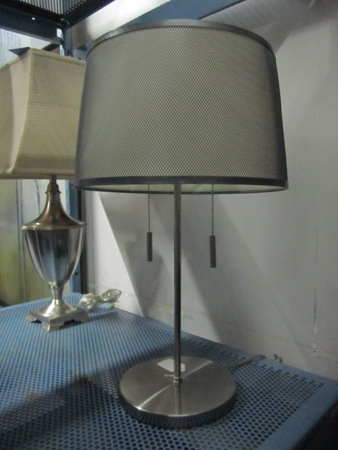 wire mesh shade on table lamp light up the world pinterest. Black Bedroom Furniture Sets. Home Design Ideas