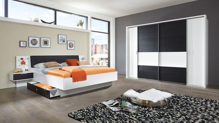Schlafzimmer Komplettset (4 Teile) Eiche Schwarz Günstig online kaufen  