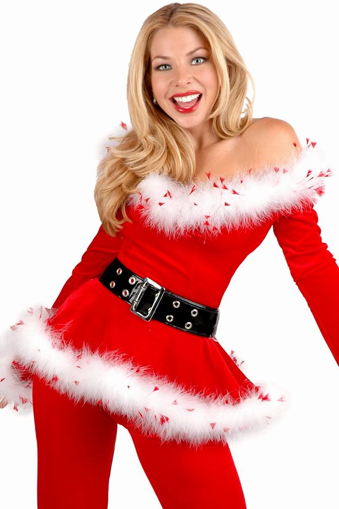 Christmas clothing ( velvet Christmas dress denim , pants )