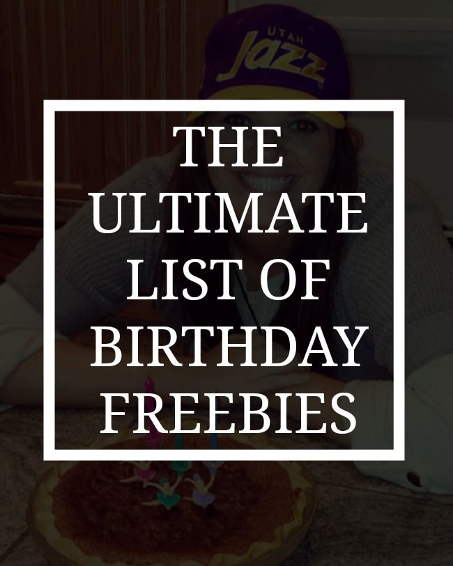 HAPPY BIRTHDAY!To me!To celebrate my birthday I am sharing this big list of birthday freebies with you! If you are anything like me you are always hoping online to look for a good way to celebrate while partying with free things for your birthday. But I am making it easy on you with the ultimate …