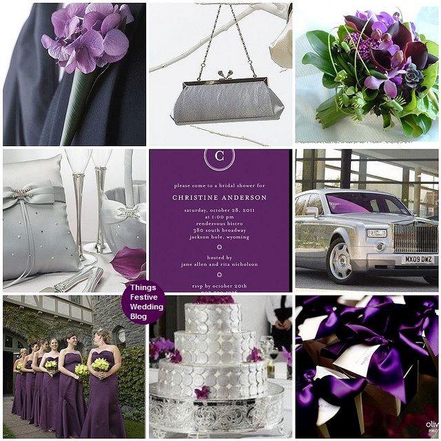 Things Festive Wedding Blog: Fall Wedding Inspiration Board - Amethyst & Platinum