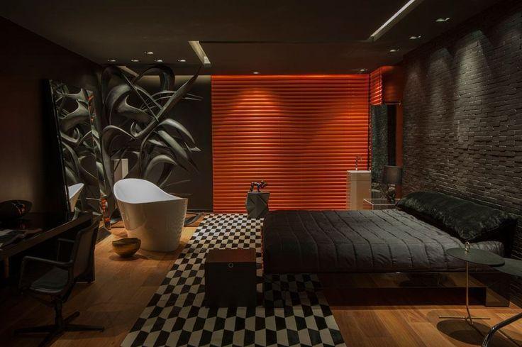 quarto com banheira é o diferencial na decoração