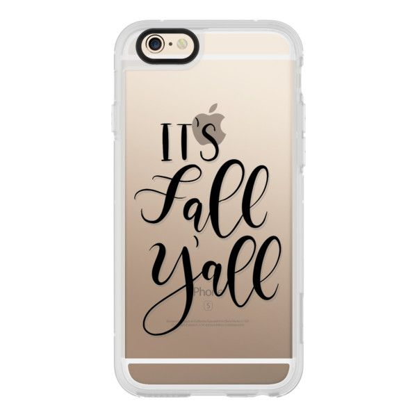 Its Fall Yall- Black Transparent - iPhone 6s Case,iPhone 6 Case,iPhone... ($40) ❤ liked on Polyvore featuring accessories, tech accessories, phone, iphone case, iphone cases, transparent iphone case, clear iphone cases, apple iphone cases and iphone cover case