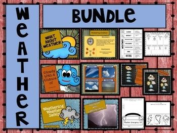 All About Weather Bundle:  This bundle consists of three lessons.  Students will learn weather patterns, tools used to forecast weather, and how weather affects living things.  They will learn all about cirrus, cumulus, cumulonimbus, and stratus clouds.  And most importantly how to stay safe in severe weather.