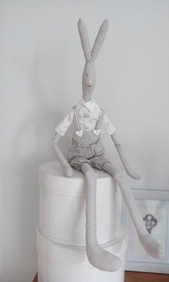 Maileg rabbit, diy, handmade, królik, zając, zabawka, scandi