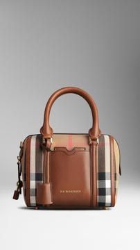 Small Sartorial House Check Bowling Bag from Burberry.  Get it now from our free app, Cymplifi.  Also available at cymplifi.com