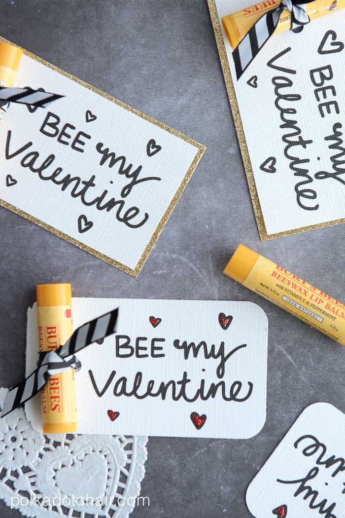 Cute lip balm Valentine idea