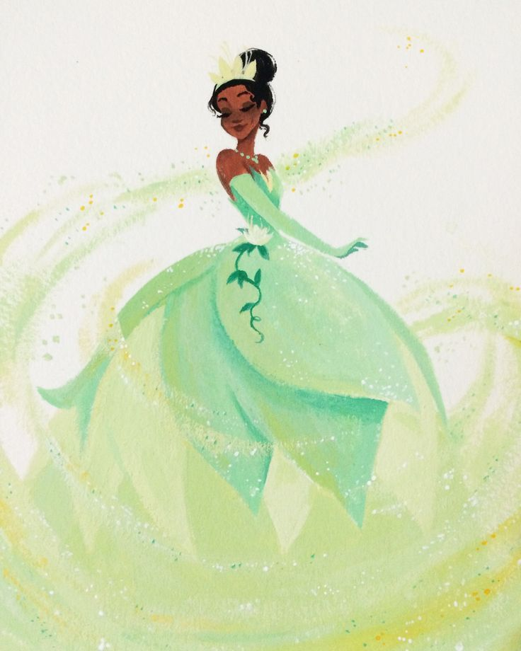 OP: Got some scary news earlier today so I've drowned myself in gouache. It's quite therapeutic  | The Princess and the Frog