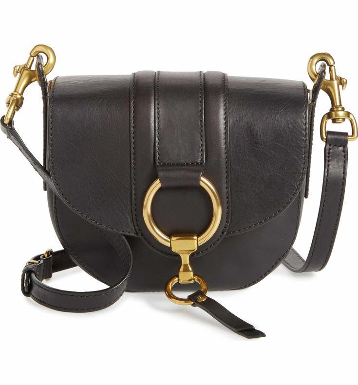 Main Image - Frye Small Ilana Harness Leather Saddle Bag