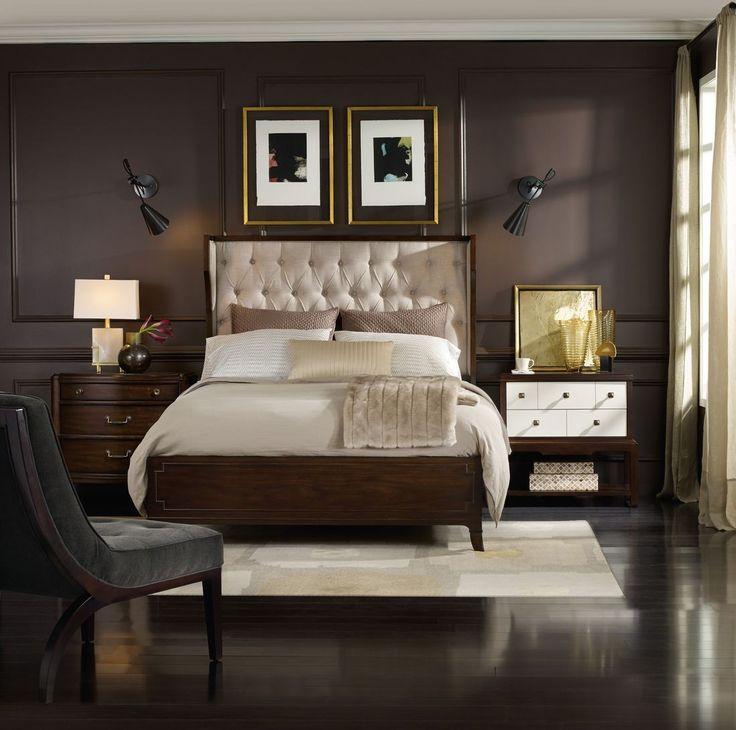 Hooker Furniture Palisade Upholstered Shelter Bedroom Set In Taupe. If You  Embrace Modern Style But