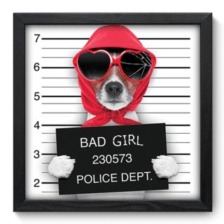 Quadro Decorativo - Bad Girl - 046qds