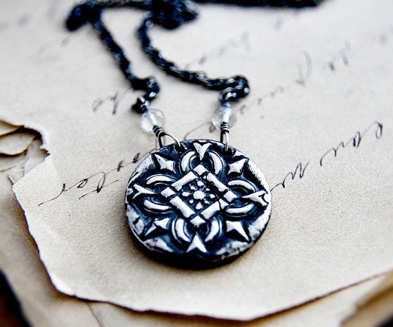 Gothic Necklace Goth Necklace Gothic Ornament Ornament by PoleStar