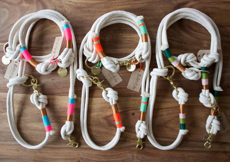 Hundeleinen und halbe Bänder aus Tauwerk www.rudelliebe.de #dog # dogs … – Hunde – DIY, Tricks, Spiele, Erziehung