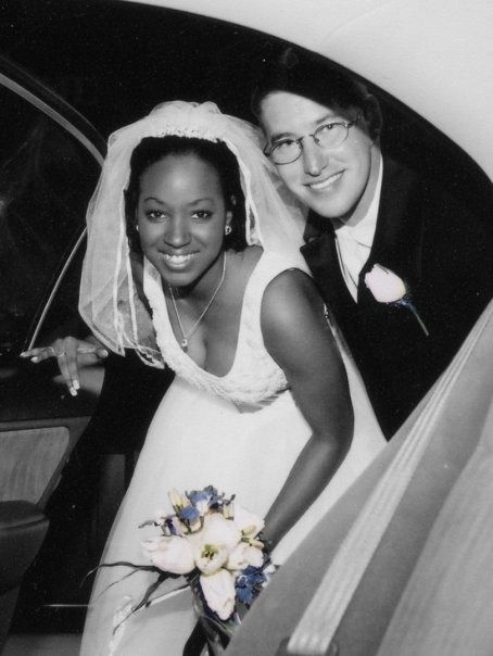 Black and white interracial marriage