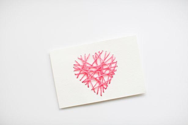 hello, Wonderful - MAKE STRING HEART YARN CARDS