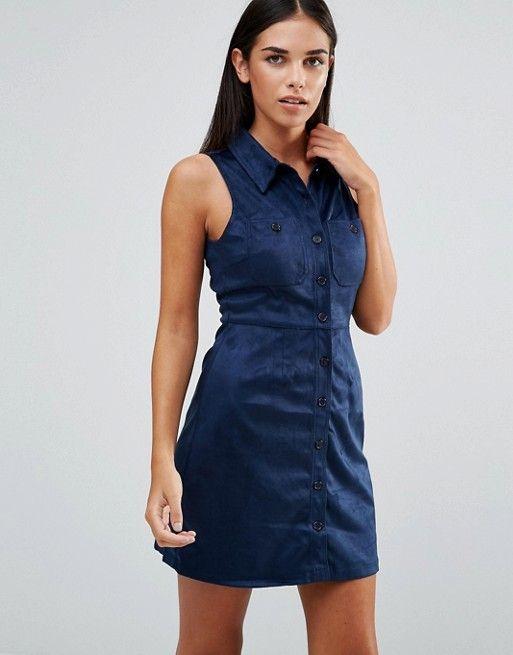 AX Paris | AX Paris Suedette Shirt Dress