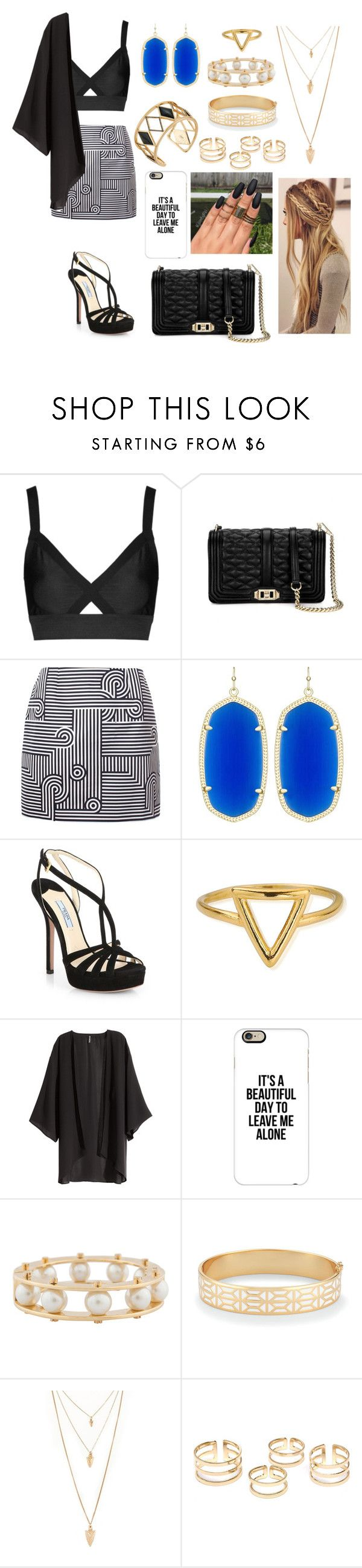 """Untitled #245"" by godlover-11 ❤ liked on Polyvore featuring Topshop, Rebecca Minkoff, Victoria, Victoria Beckham, Kendra Scott, Prada, ChloBo, H&M, Casetify, Lele Sadoughi and Stella & Dot"