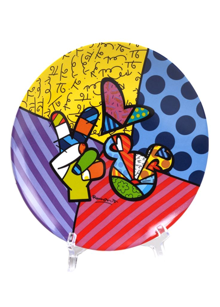 Peace, Love Mickey Plate. Mickey and Britto together, that's definetely my dream design project.