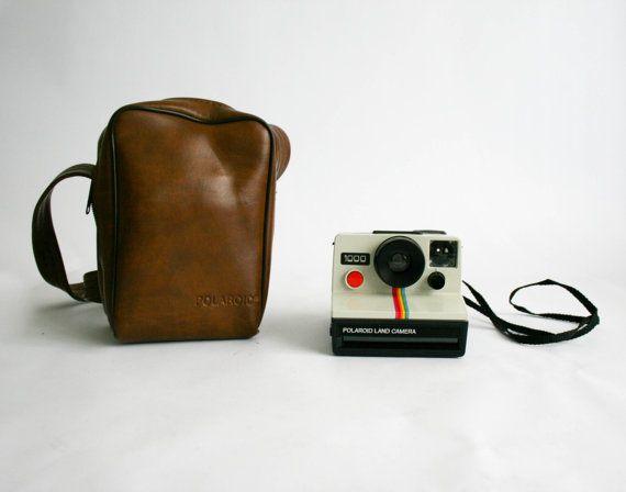 Polaroid Land Camera 1000 con custodia in pelle di DoubleRandC
