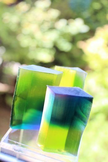 透明石けんグラデーション|新潟 手作り石鹸の作り方教室 アロマセラピーのやさしい時間
