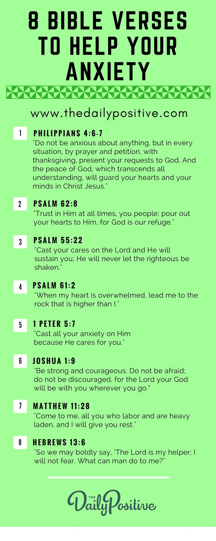8 Scriptures to Help with Anxiety