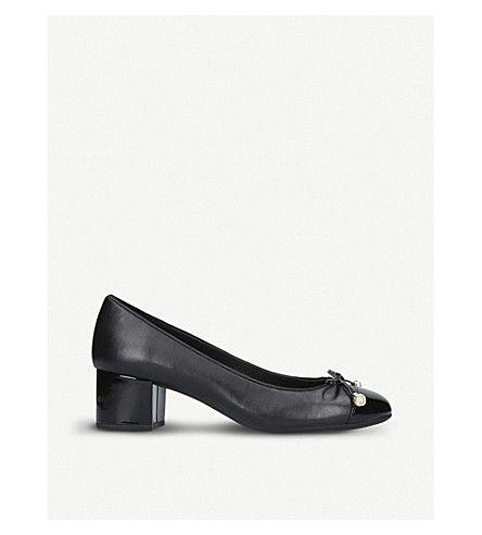 MICHAEL MICHAEL KORS | Gia bow leather court shoes #Shoes #Heels #Courts #Mid heel #MICHAEL MICHAEL KORS