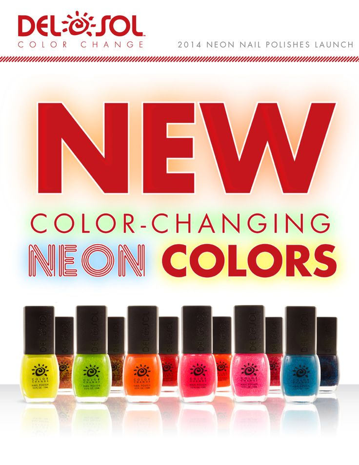 7 best Del Sol Neon Nail Polish Collection images on Pinterest ...