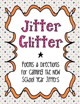 This product contains a poem for the night before the first day of 1st grade.  I print a poem for each student, sign my name at the bottom, and put them in envelopes for our open house/meet the teacher night.  I also include the Jitter Glitter in the envelope, which is confetti I purchase online.