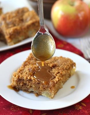 ... the mornings with this apple coffee crumb cake with brown sugar glaze