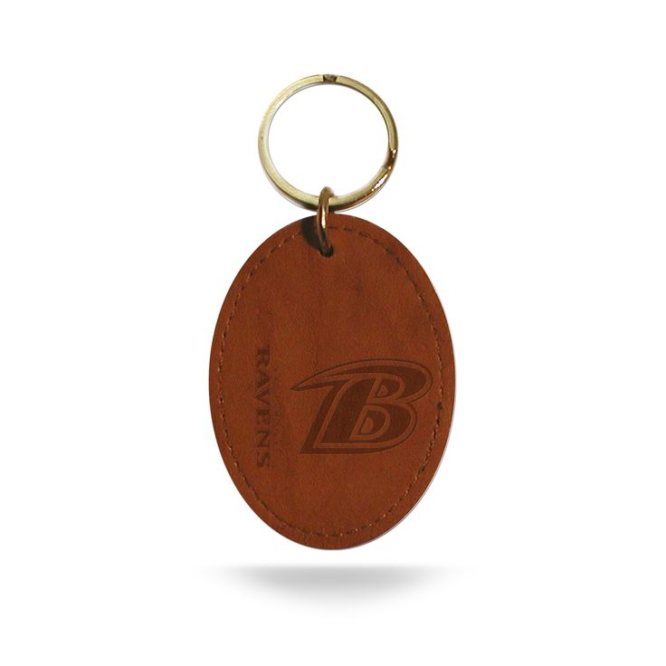 "Image of Baltimore Ravens NFL 2"" Leather Key Chain Ravens Rico Industries"