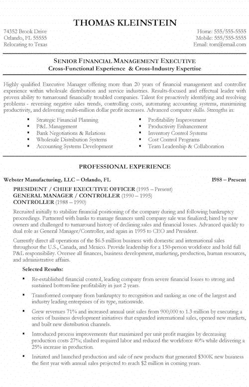 Cfo Resume Examples International Executive Coo Resume Example Best