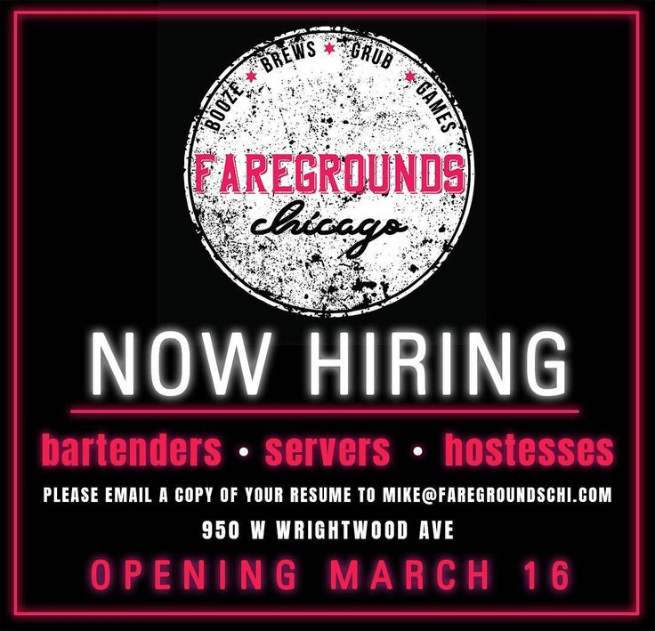 Were looking to add more bartenders servers and hostesses to our growing team. Apply by sending us your resume today! #FareGroundsChi . . . . . #Chicago #LincolnPark #jobs #restaurantjobs #bartender #hostess #server #chicagobars #chicagofood #igerschicago #chigram #chicagofoodauthority #infatuationchi #eaterchicago #foodphotography #todayfood #alwayshungrychi #312food #mychicagopix #devourpower #sokophoto #chicagofooddude