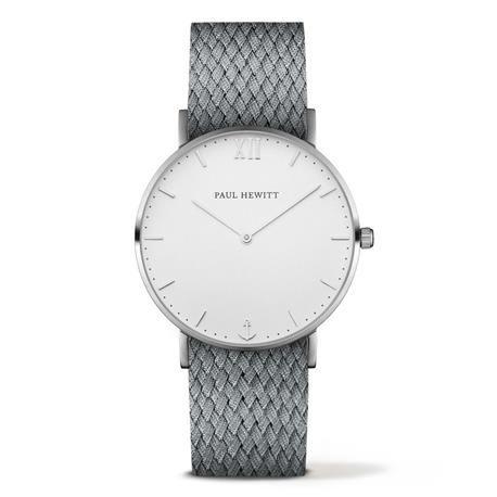 Reloj PAUL HEWITT Uhr Sailor Line. Blanco y gris  Referencia  PH-SA-S-ST-W-18M