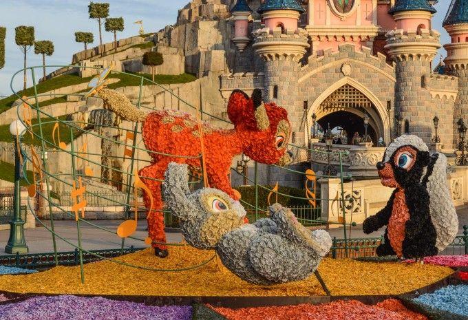 Bambi Topiary in Disneyland Paris for Swing into Spring