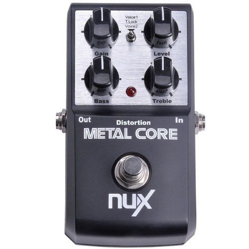NUX Metal Core Distortion Effect Pedal -Aluminum Alloy Housing Distortion Pedal 2-Band EQ Tone Lock Preset Function True Bypass